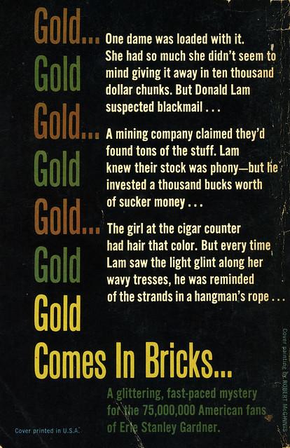 Dell Books D406 - A.A. Fair - Gold Comes in Bricks (back)