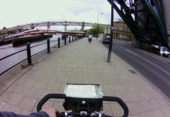 cycling through Newcastle