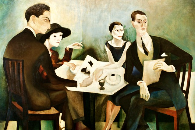 Self-Portrait in a group (José Almada Negreiros), 1925