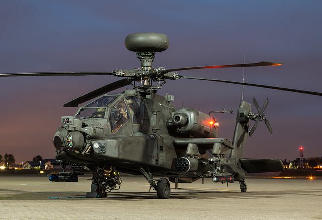 RAF Northolt Nightshoot XVII - Westland WAH-64 Apache AH1 - Army Air Corps - ZJ174