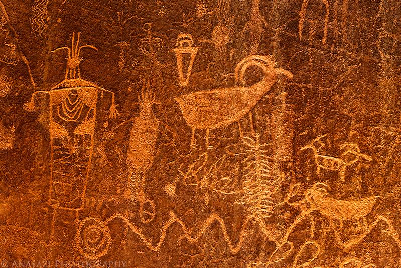 Neon Petroglyphs