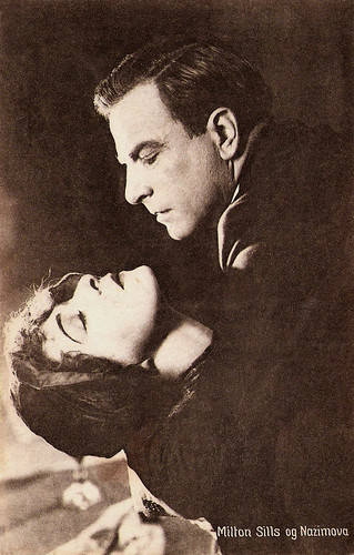 Nazimova and Milton Sills in Madonna of the Streets (1924)
