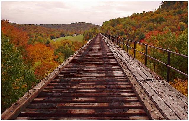 Abandon railroad trestle in Jefferson County PA