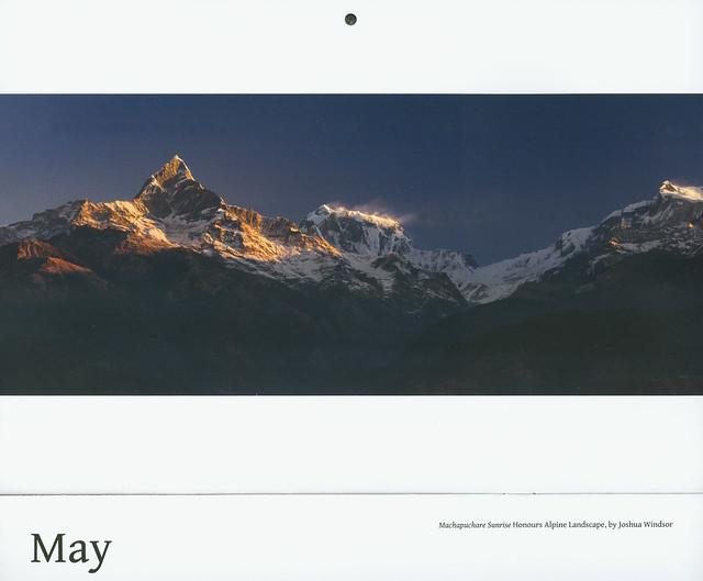 My photo in the New Zealand Alpine Club calender