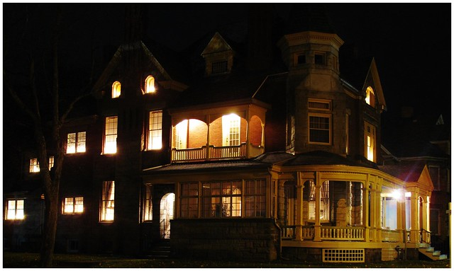 Victorian home at night @ Kittanning, PA (HWW)