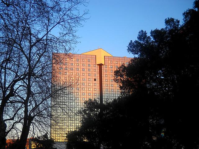 Palazzo di Corte Lambruschini al tramonto