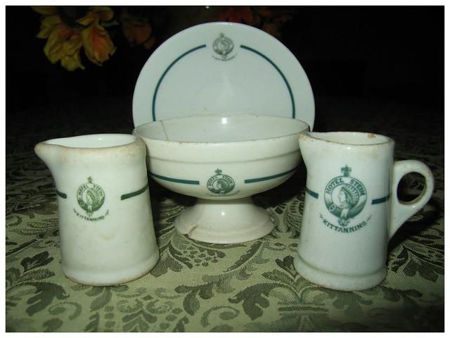 Glassware memorabilia from Hotel Steim in Kittanning PA