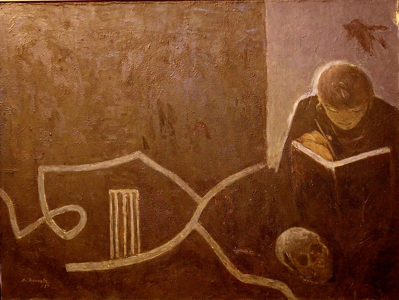 There is no yes without a no - The Hermit - António Dacosta, 1914 - 1990)