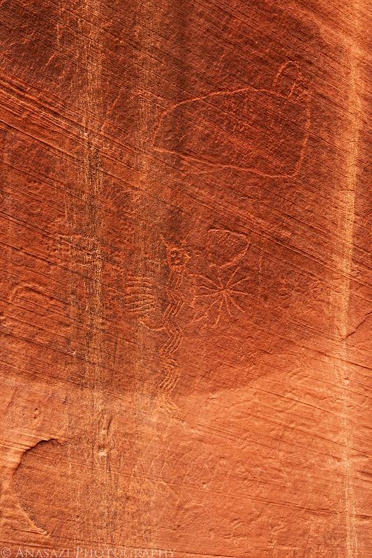 Faint Petroglyphs