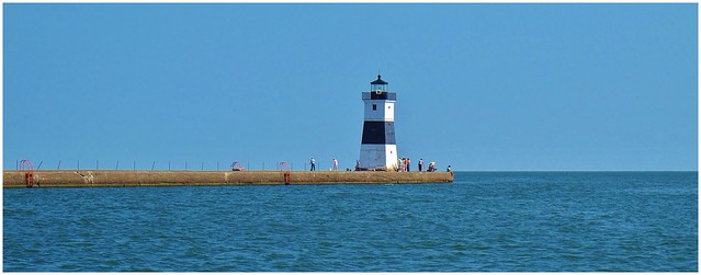 Center of attention on Lake Erie @ Presque Isle, Erie PA