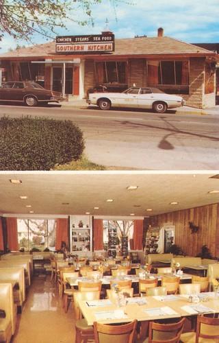 vintage restaurant virginia postcard capa newmarket interiorview