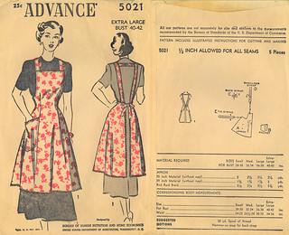 Advance 1948 5021 USDA apron