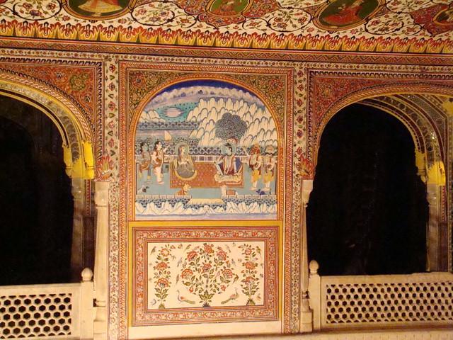 salon y galeria interior Palacio de Samode India 33