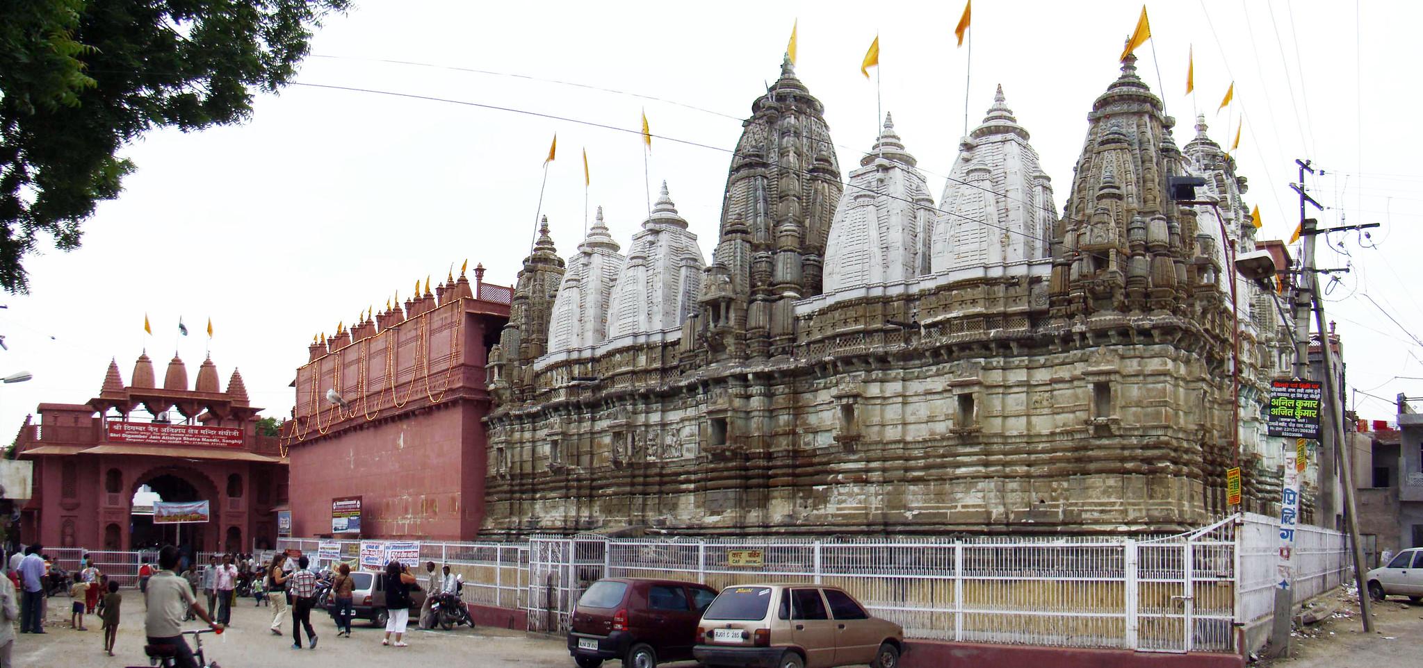 India exterior Templo de Shri Digamber Jaina Sanganer