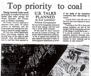 Fraser gives coal top priority, solar research relegated - Canberra Times 19770521 p9