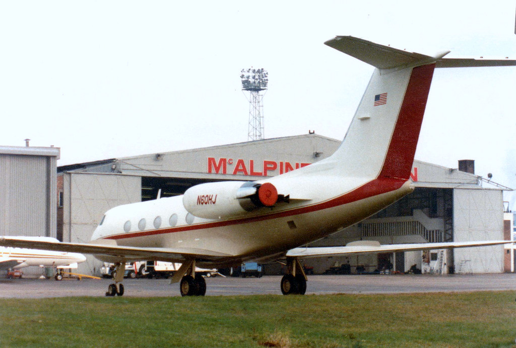 N60HJ is a 1972 G-1159 Gulfstream II c/n 119 Luton 22Oct82 - rescanned