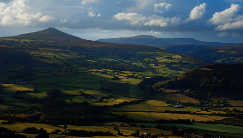 ngc landscape europe travel black mountains brecon beacons wales united kingdom sunset