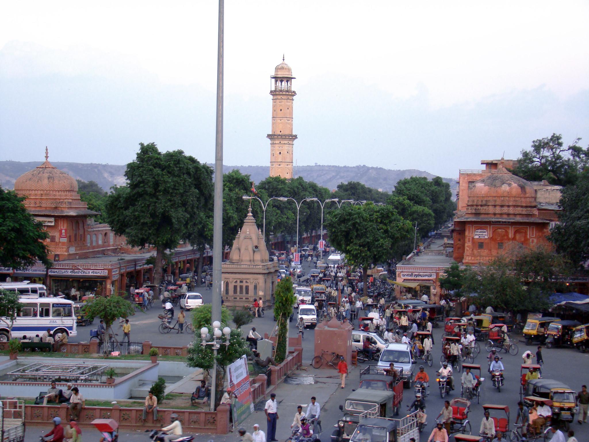 plaza Choti Chaupar deposito de agua Jaipur India
