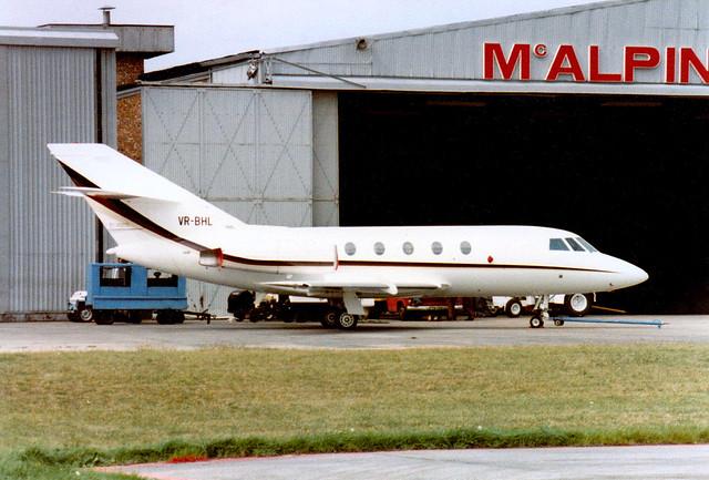VR-BHL is a 1982 Dassault Falcon 20F c/n 429 Luton 08Sep82