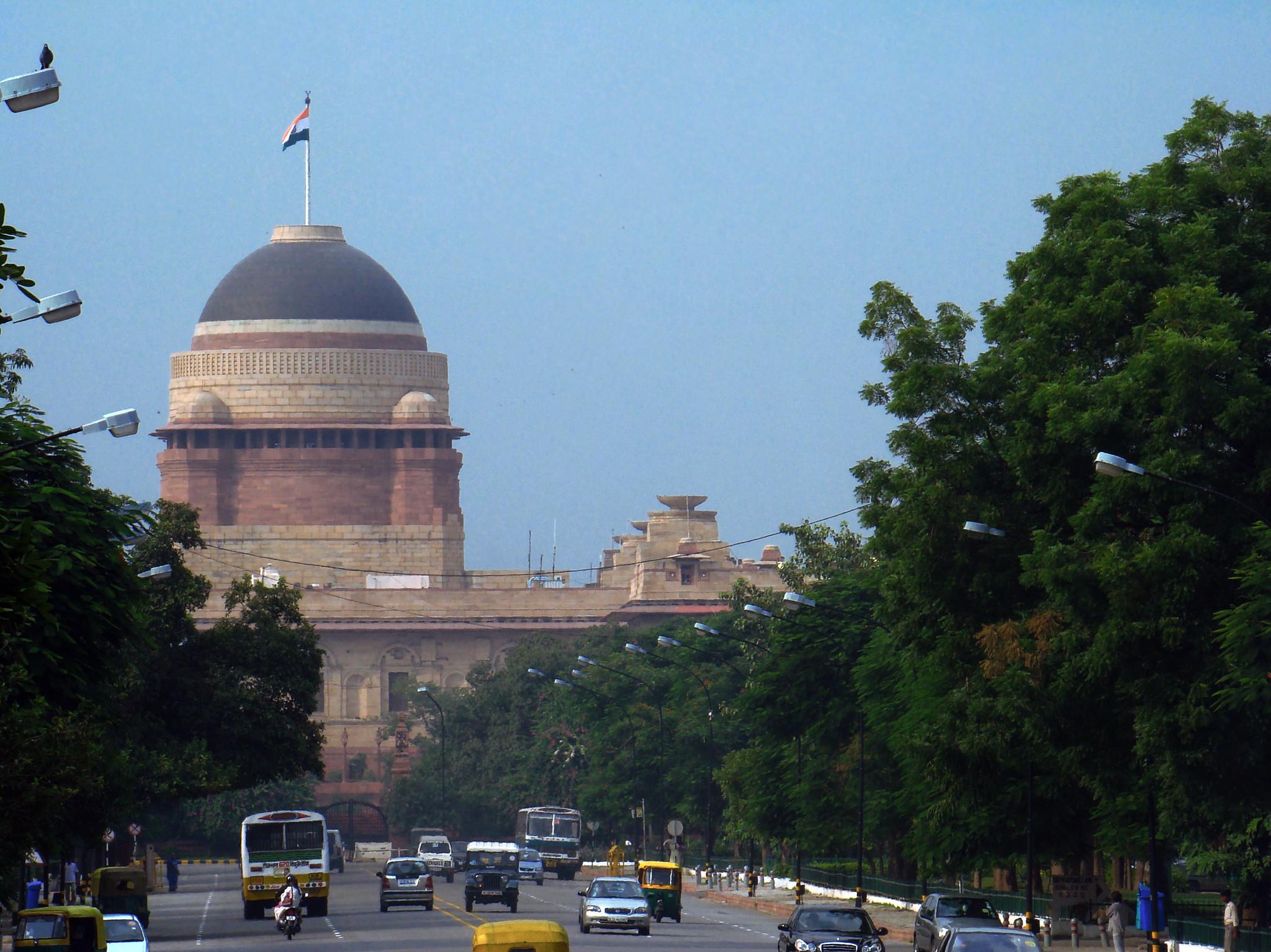cupula edificio exterior Casa presidencial o Rashtrapati Bhavan Delhi India