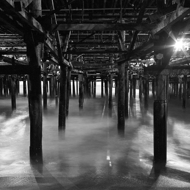 under the pier. santa monica, ca. 2006.