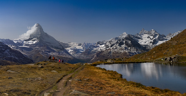 Autumn time in Zermatt. Canton Valais, Switzerland. No. 282-3.