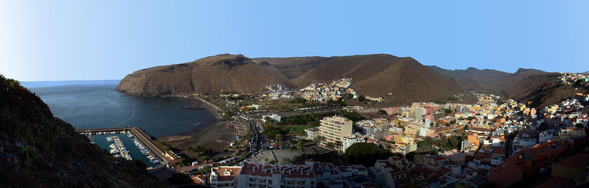 vista panoramica Puerto de San Sebastian de La Gomera
