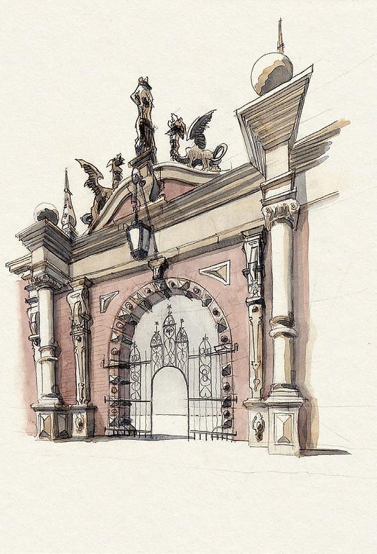 Bückeburg, Portal zum Schlossareal · Portal to the castle grounds