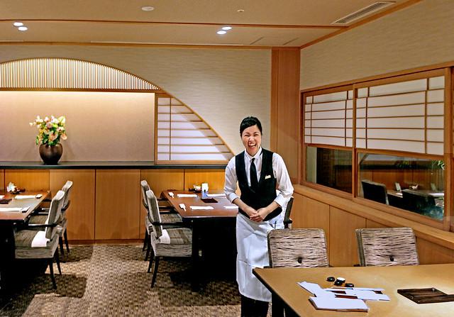 Japan 2015. Kyoto. The hilarious waitress.
