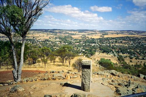 wa australia 1994 landscape mountbrown york lookout jeffc aussiejeff country town rural above blue cloud