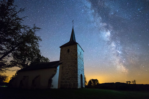 Savault Chapel, Morvan National Park, at Night