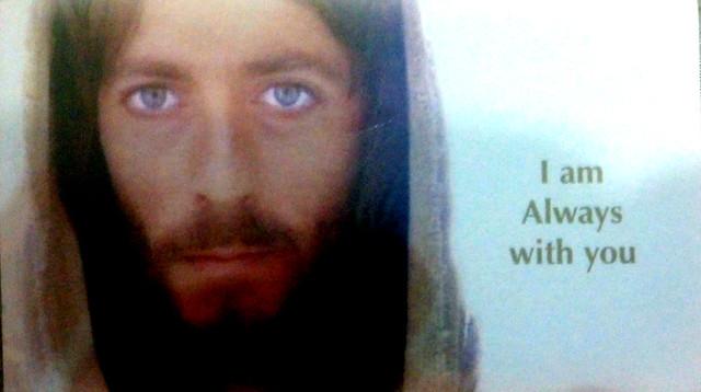Blue eyes Jesus: born again Christian propaganda