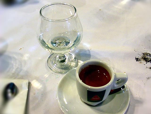 Espresso and Grappa