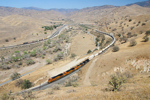california train railway bnsf caliente vlak tehachapipass kalifornie železnice
