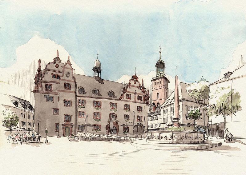Darmstadt, Marktplatz · Darmstadt Marketplace