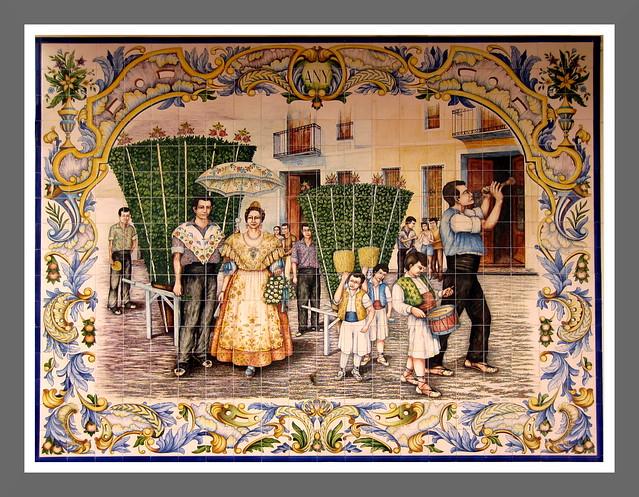 Panel de Azulejos. BETERA (Valencia)