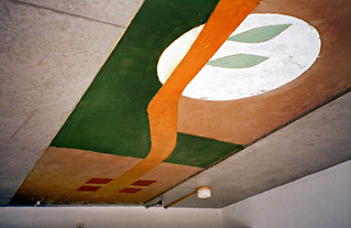 Guest room silt-cast ceiling