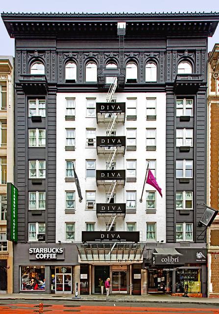USA 2015. San Francisco. The Diva Hotel.