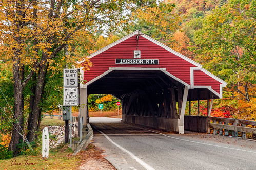bridge autumn trees red fall canon landscape newengland newhampshire nh jackson foliage coveredbridge 2015 nationalregisterofhistoricplaces ellisriver canonef24105mmf4lisusm honeymoonbridge jacksoncoveredbridge canon6d davetrono