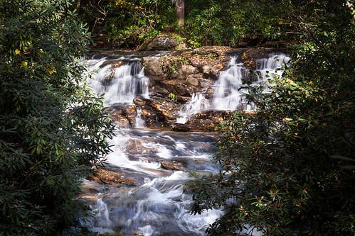 blueridge georgia autumn cascades mountains waterfall
