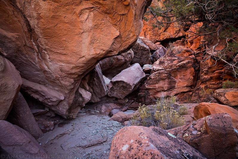 Boulder-Strewn Wash