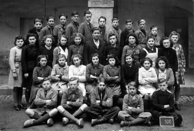 En 1943, à Orgelet, une seulle classe regrouopai les éleves de sixième et de cinquième