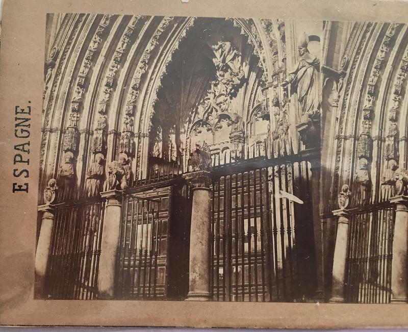 Puerta de los Leones en 1857 por Eugène Sevaistre. Colección Luis Alba.