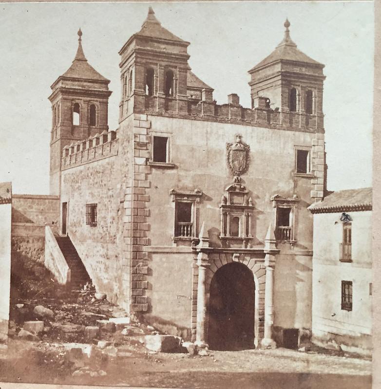 Puerta del Cambrón en 1857 por Eugène Sevaistre. Colección Luis Alba.