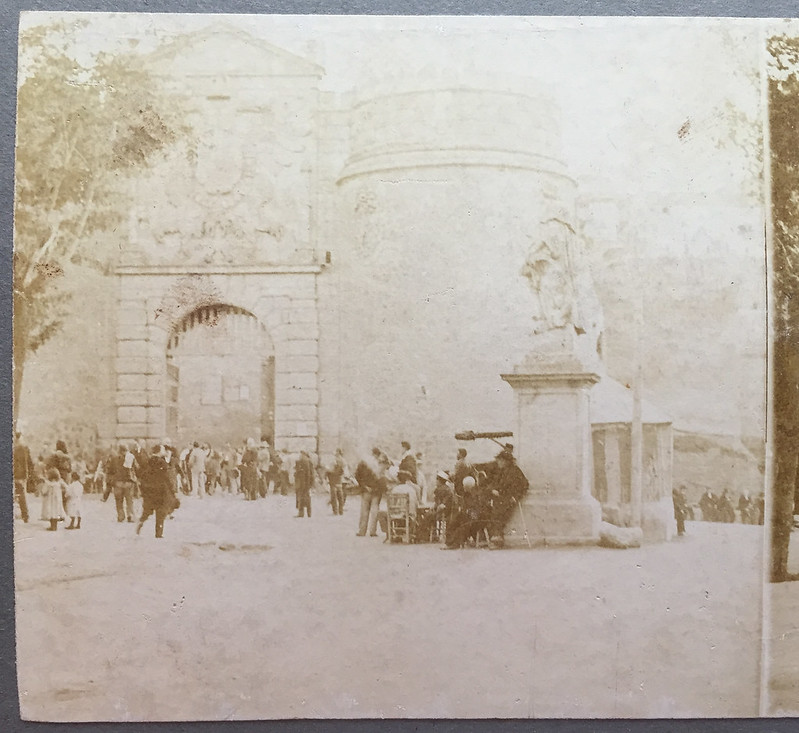 Puerta de Bisagra en 1906 por Hans Leyden. Colección Luis Alba.