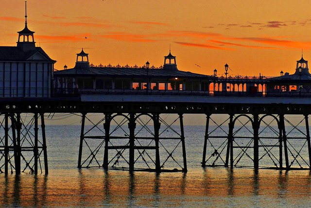 Eastbourne Pier and Supports at Sunrise