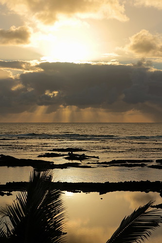 bigisland coast hawaii kapohotidepools pahoa sea sky sunrise unitedstates usa vacation waiopae water