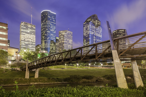 usa building buildings downtown cityscape texas image tx unitedstatesofamerica houston april bluehour 2015 buffalobayou harriscounty mabrycampbell houstonstock sunset skyline photography photo photograph promenade stockimage iso100 24mm f71 200sec tse24mmf35lii april92015 20150409h6a5097