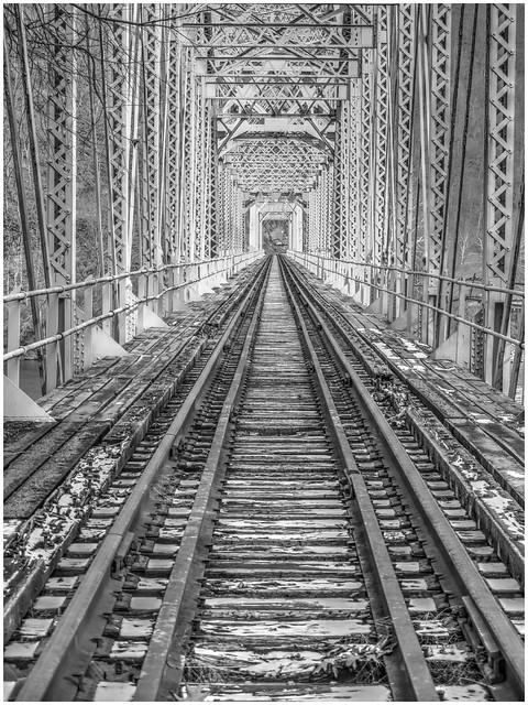 Abandoned Pittsburg & Shawmut Rail Road Bridge @ Reesdale PA