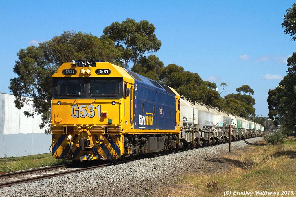 PacNat Cement train near Sth Geelong on 10/12/2015 by Bradley Matthews